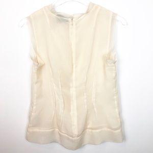 Cynthia Rowley Tops - Cynthia Rowley Cream Lace Sleeveless Blouse XS E